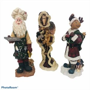 BOYDS BEARS Christmas Figurines Lot of 3 Older